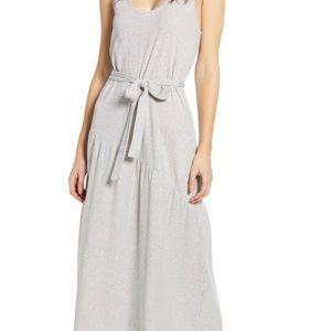 ❣️HP❣️Lucky Brand Stripe Belted Maxi Dress